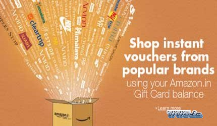 10% Off on Amazon in Email Gift Cards worth Rs 500-Get flat
